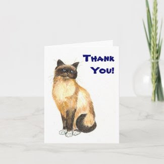 Cat 'Thank You' Notecard card