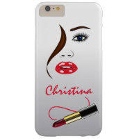 Face Lipstick Kiss Mirror Slim iPhone 6 Plus Cases Barely There iPhone 6 Plus Case