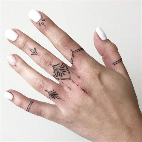 tiny finger tattoos define perfection tattooblend