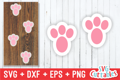 Download Easter Bunny Feet Cut File Free