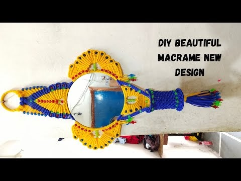 DIY Beautiful Macrame New Design Mirror AT Home