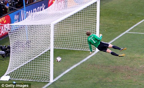 Over the line: Goal-line technology could be introduced in 2013
