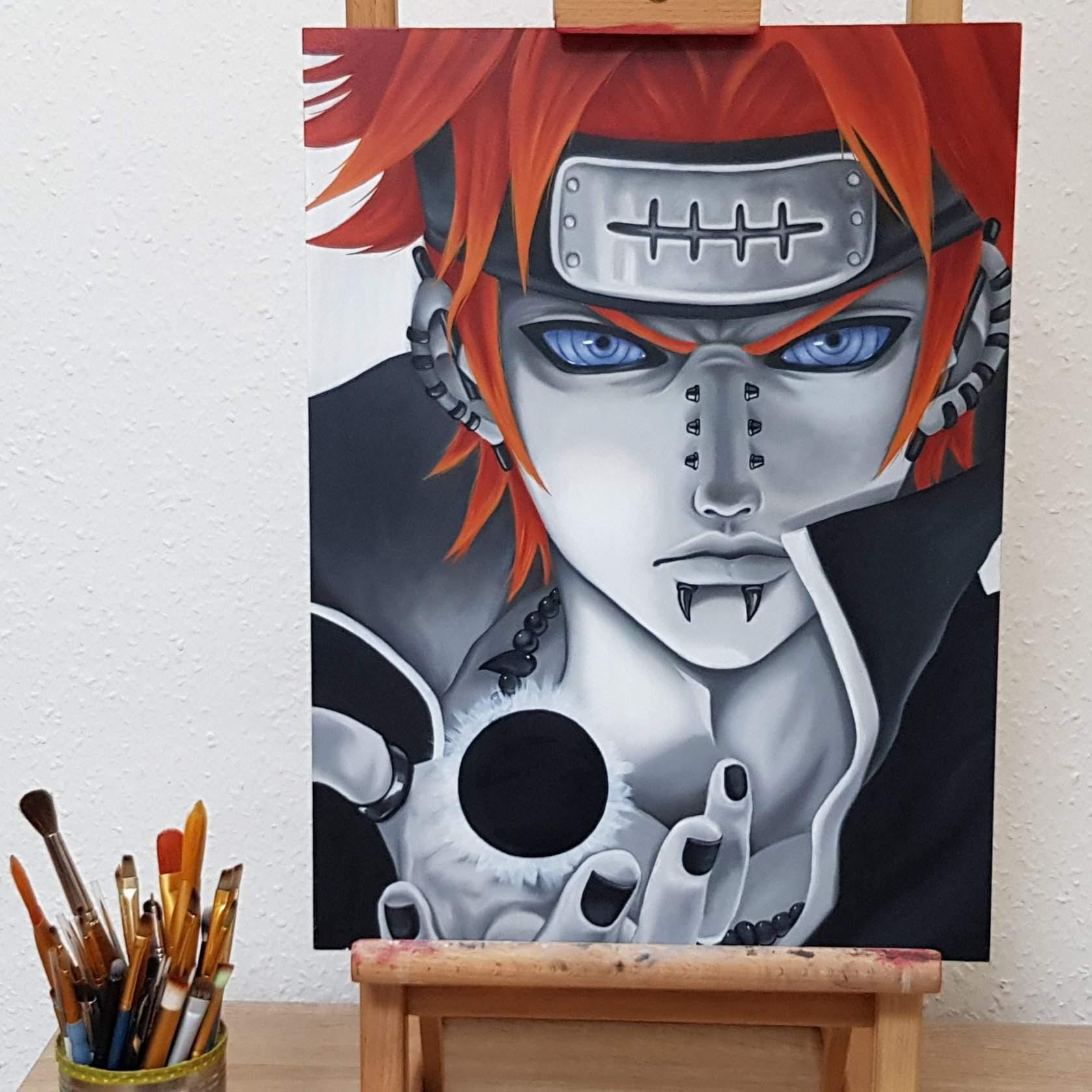 Pain Naruto Shippuden Oil Painting Anime Art Amino