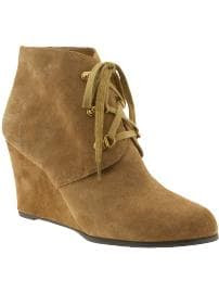 Gap Suede wedge booties