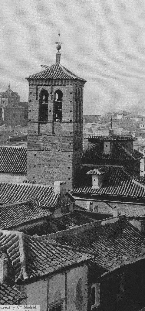 Torre de la Iglesia de la Magdalena en el siglo XIX. Foto Laurent (detalle)