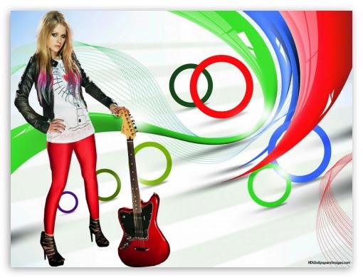 Avril Lavigne With Rock N Roll Guitar 4k Hd Desktop