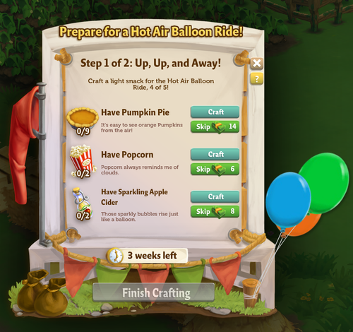 Hot Air Balloon - FarmVille 2