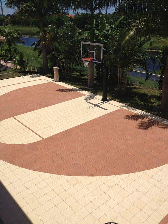 backyard basketball court ideas 16