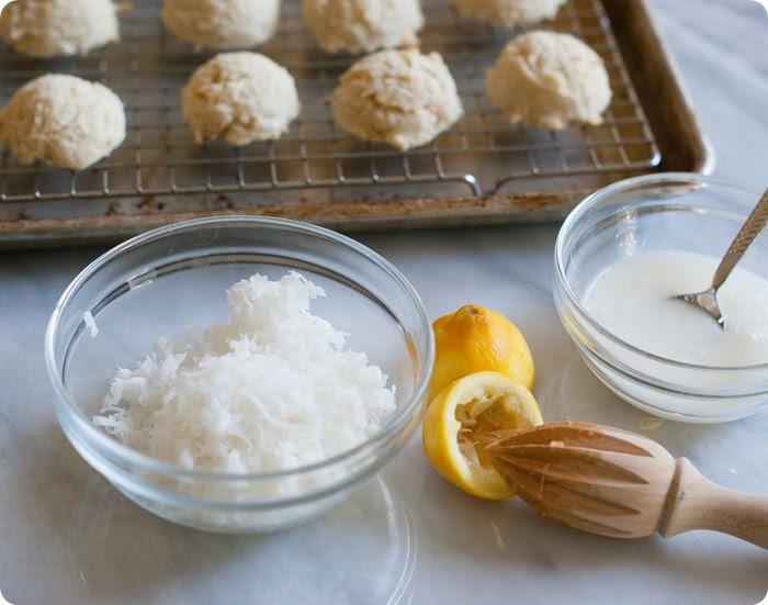 lemon coconut cottontail cookies