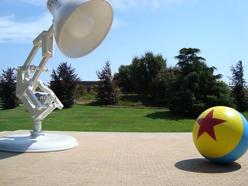 pixar lamp logo. hops over the Pixar logo,