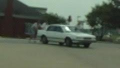 friendly alabama folks pushing an old man's dead car