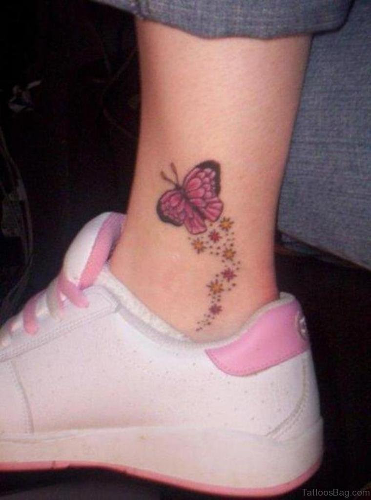 50 Excellent Butterfly Tattoos On Ankle