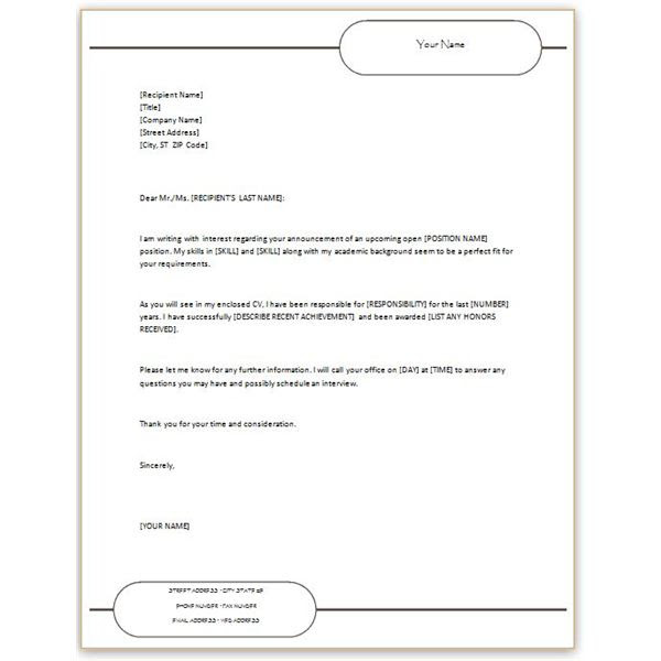 cover letter example  email cover letter cv attached