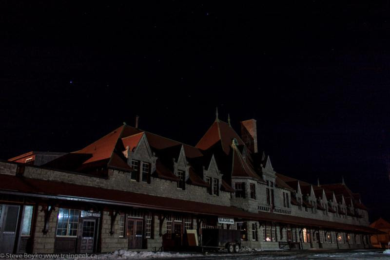 McAdam railway station at night 2013/02/26