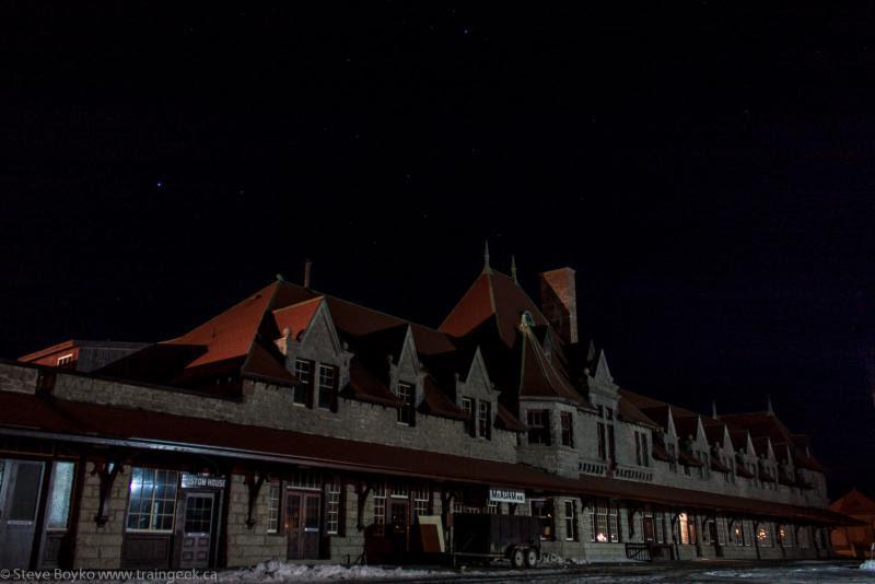 McAdam railway station at night 2013/02/26