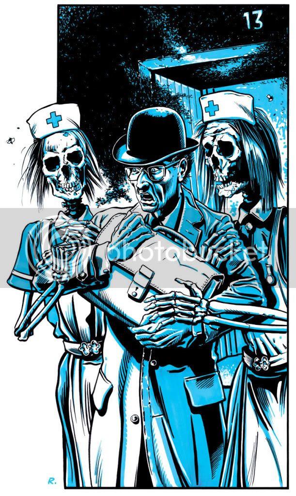comic,Graeme Neil Reid,13th Floor,scream,illustration