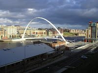 Photo by Sheila Webber: Newcastle-upon-Tyne, with Baltic on the far right, Dec 2006.