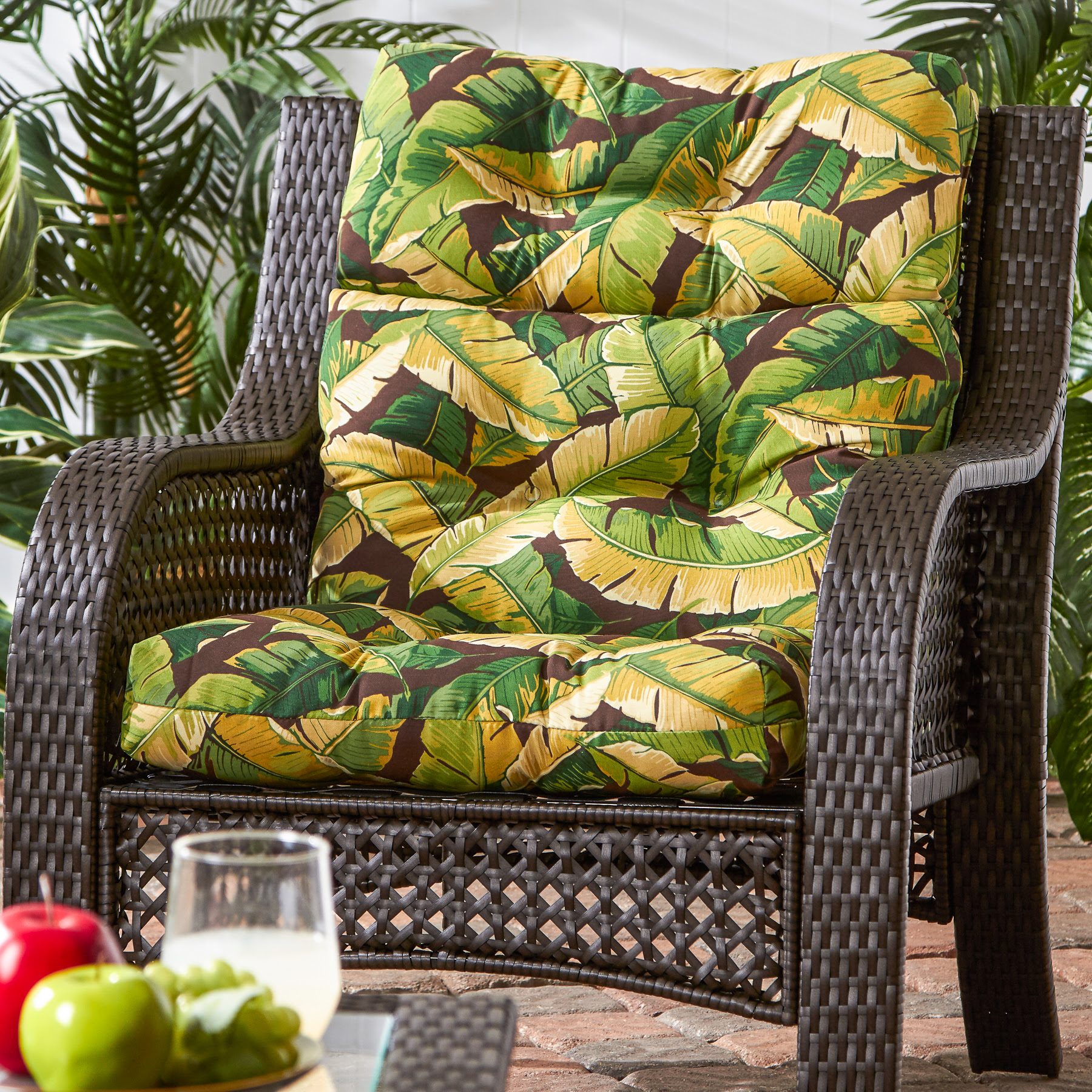 Greendale Home Fashions Outdoor High Back Patio Chair ...