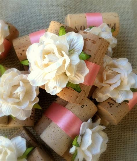 Peach Coral Wedding Decorations, Rustic Place Card Holder