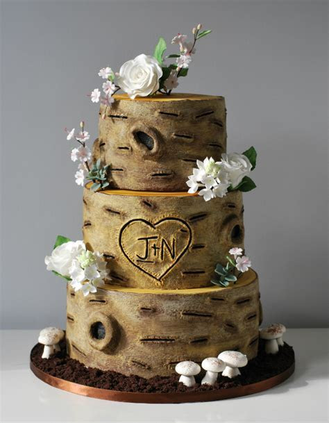 Rustic Wedding Cake   Little Bear Cakery