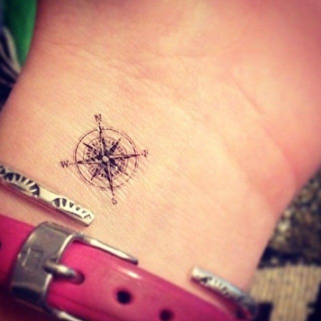 Pretty Small Wrist Compass Tattoo On Arm Tattoomagz