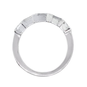 Platinum Princess Cut & Baguette Diamond Wedding Band Ring