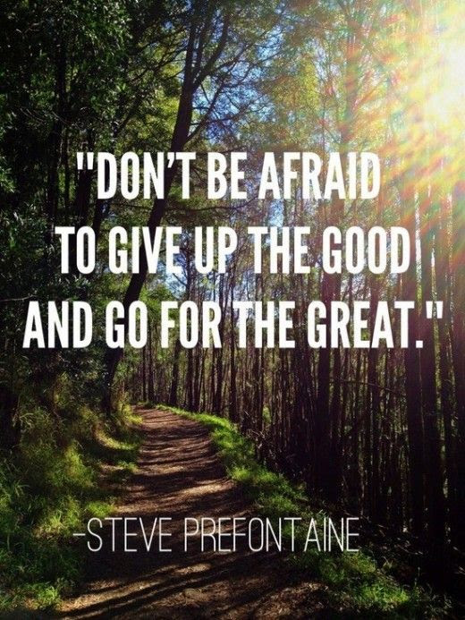 Don't be afraid to give up the good and go for the great.  | Friday Favorites at www.andersonandgrant.com