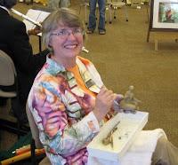 Annette Everett sculpting