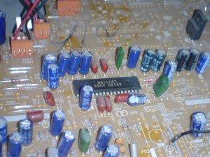 IC LV1116 mainboard televisi LG 21FC1AG-TH