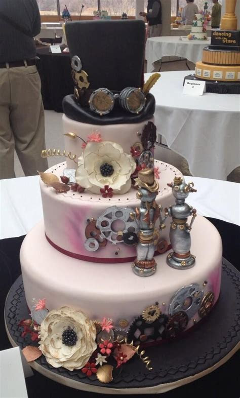 Steampunk wedding cake www.MadamPaloozaEmporium.com www