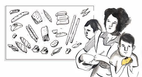 Works for newspaper: J'adore le pain by la casa a pois