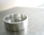 Secret Promise Ring - One Ring - Custom Size and Sentiment