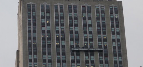 Window Washers, Empire State Building (detail) 1/24/09