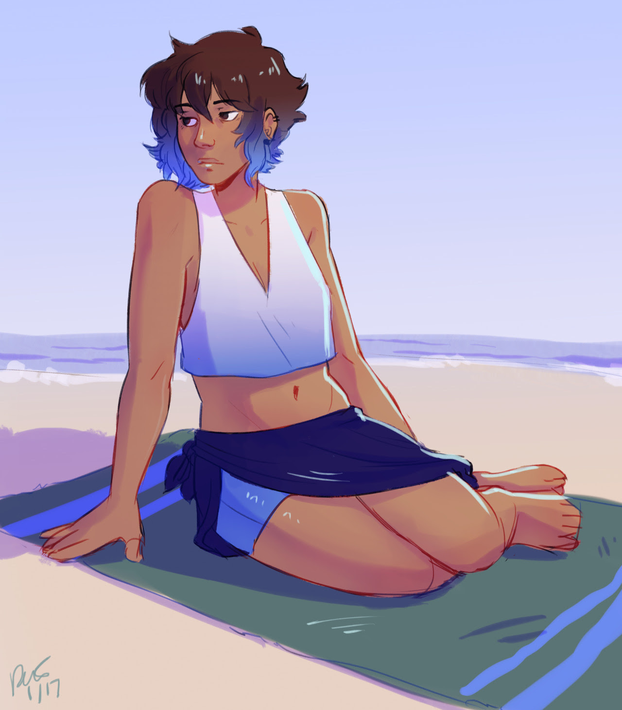 i found this super old human lapis wip from like months ago and threw some shading on it ✌️️