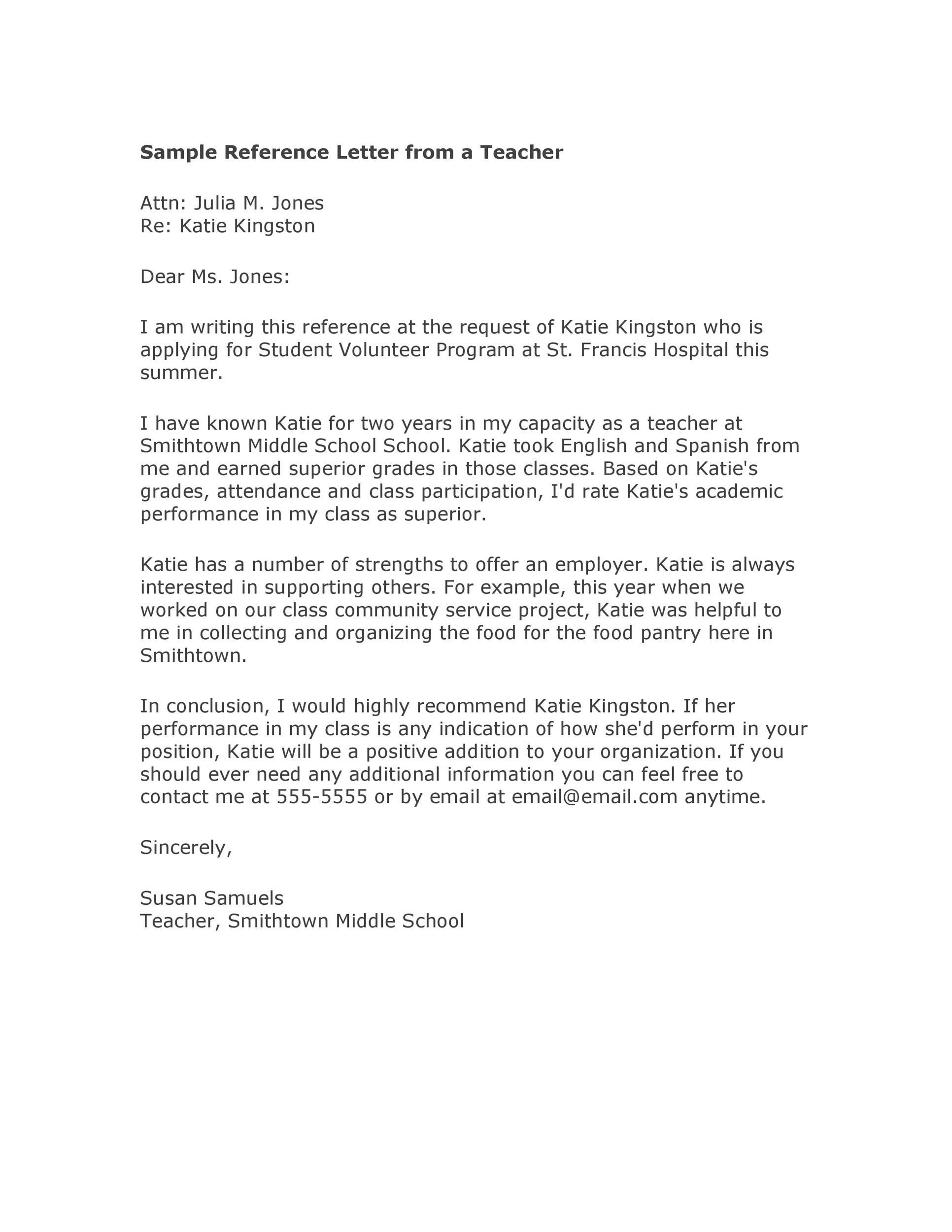 Labace: Recommendation Letter For Teaching Assistantship
