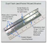 DF1042: Dual Flash Bracket - Plain Steel