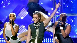 Queen of the night: Iggy Azalea performs at the 2014 American Music Awards.