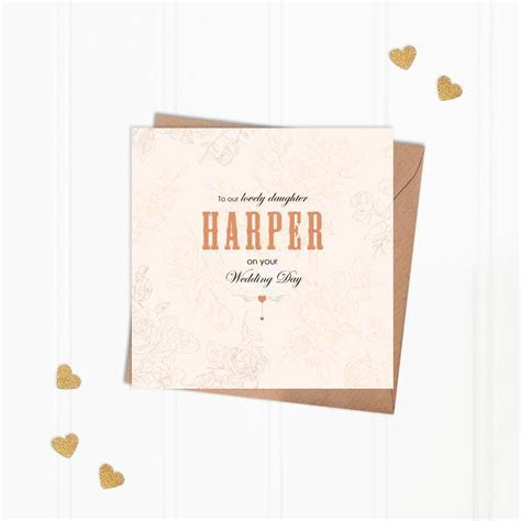 personalised daughter on wedding day greeting card by hope