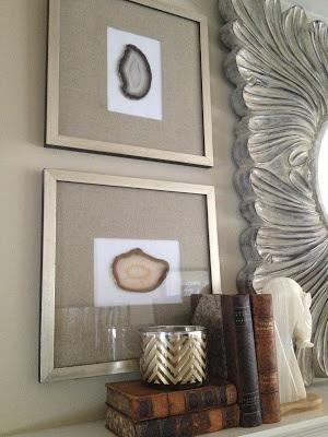 framed agate coasters