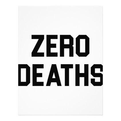 Zero Deaths Letterhead