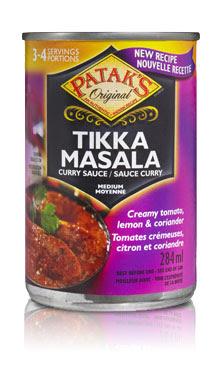 Patak's Tikka Masala Curry Sauce (can)