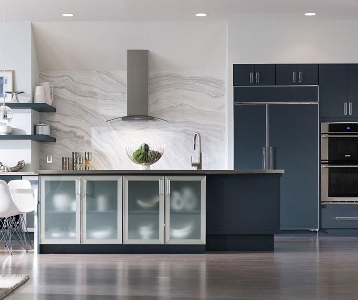 Blue Painted Kitchen Cabinets - Decora Cabinetry