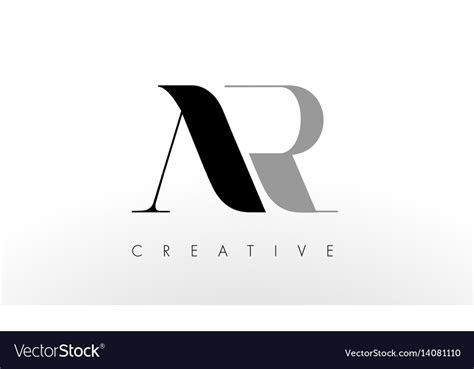 letter logo design creative ar letters icon vector image