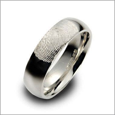 Men's Platinum Fingerprint Ring   platynowa obr?czka
