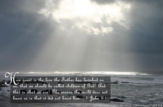 Inspirational illustration of 1 John 3:1