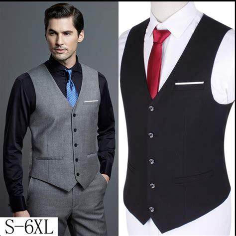 xl  men slim suit vests single business casual vest
