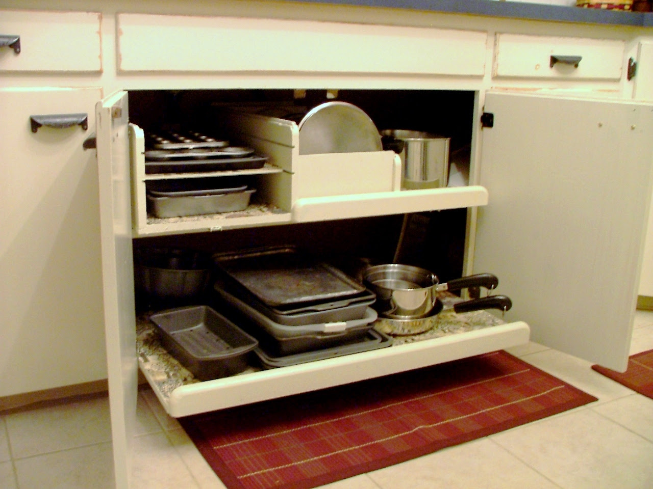 Pull-out Pot and Pan Storage Drawer - Matt and Shari