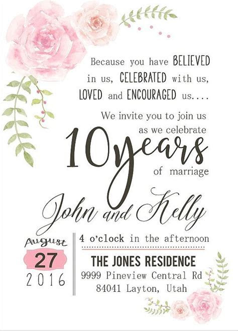 25  best ideas about Anniversary invitations on Pinterest