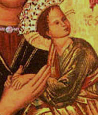A detail of the Child Jesus from the painting of Our Lady of Perpetual Help