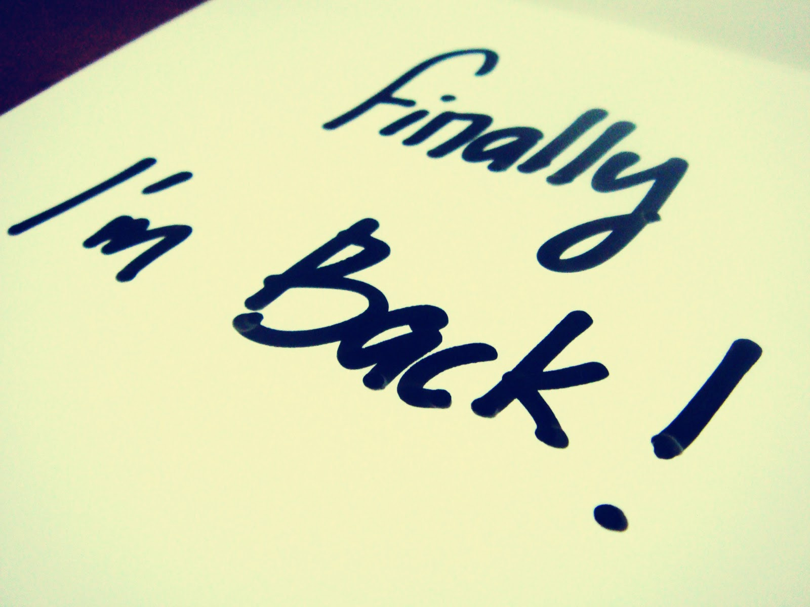 Image result for i'm back images